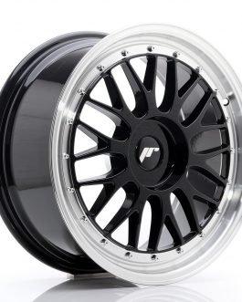 JR Wheels JR23 18×8 ET30-45 BLANK Glossy Black w/Machined Lip