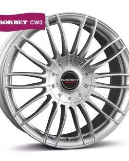 Borbet CW 3 sterling silver 7.5×17 ET: 55 – 5×120