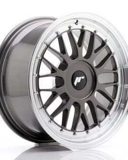 JR Wheels JR23 17×8 ET20-45 BLANK Hyper Gray w/Machined Lip