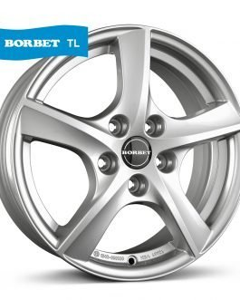 Borbet TL brilliant silver 7×17 ET: 44 – 5×115