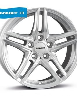Borbet XR brilliant silver 7.5×16 ET: 40 – 5×112