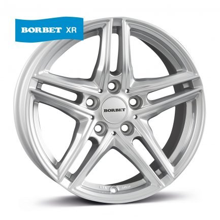 Borbet XR brilliant silver 8x18 ET: 30 - 5x112