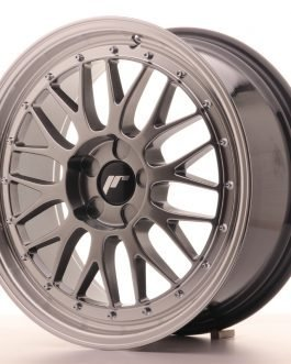JR Wheels JR23 18×8 ET40-45 5H BLANK Hyper Black w/Machined Lip