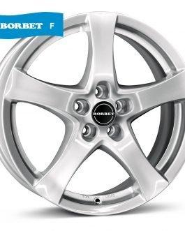 Borbet F brilliant silver 7×17 ET: 40 – 5×114.3