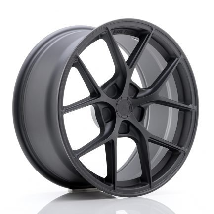 JAPAN RACING JR Wheels SL01 18x8 ET20-40 5H BLANK Matt Gun Metal 8.00x18