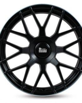 MAM GT1 Matt Black Lip Polish 9.5×19 ET: 30 – 5×112