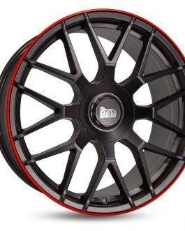 MAM GT1 Matt Black Lip Red 8.5×20 ET: 45 – 5×112