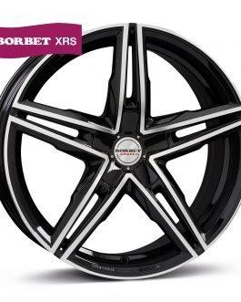 Borbet XRS black polished glossy 8.5×19 ET: 48 – 5×112