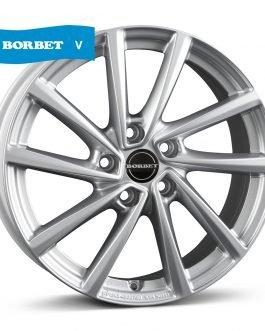 Borbet V crystal silver 7×16 ET: 48 – 5×112
