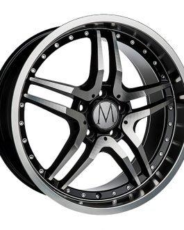 Melchior GT Black Polished Chrome Rivets 8×18 ET: 45 – 5×112