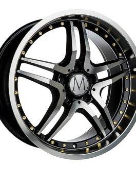 Melchior GT Black Polished Gold Rivets 8×18 ET: 45 – 5×112