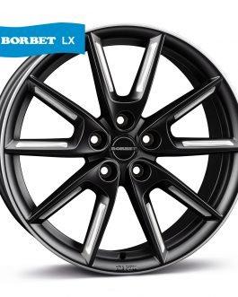 Borbet LX18 black matt silver spoke rim 8.0×18 ET: 48 – 5×112