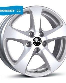 Borbet CC crystal silver 7×16 ET: 40 – 5×120