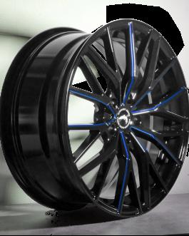 Barracuda PROJECT 3.0 Black gloss Flashblue 8.5×18 ET: 40 – 5×108