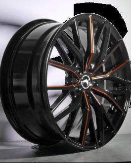 Barracuda PROJECT 3.0 Black gloss Flashorange 8.5×20 ET: 40 – 5×108