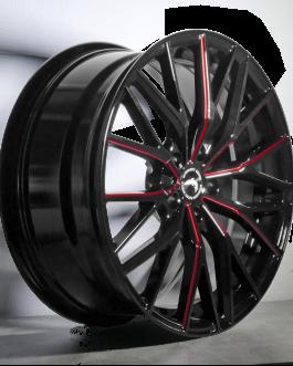 Barracuda PROJECT 3.0 Black gloss Flashred 8.5×19 ET: 32 – 5×120