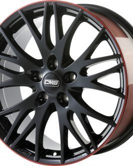 CMS C8 Black Red Gloss 8×18 ET: 35 – 5×112