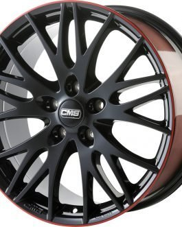 CMS C8 Black Red Gloss 7.5×17 ET: 48 – 5×114.3
