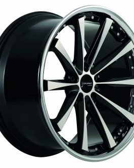Corspeed ARROWS Higloss black polished inox lip 8.5×20 ET: 38 – 5×120