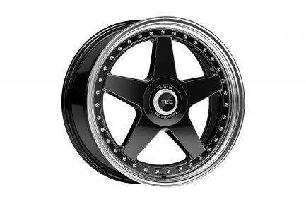 TEC Speedwheels GTE Black polished lip CB: 64.0 8x18 ET: 40 - 5x100