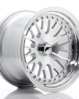 JR Wheels JR10 15×9 ET0-20 BLANK Silver Machined Face