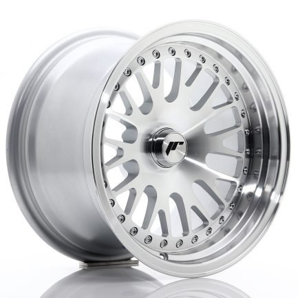 JAPAN RACING JR Wheels JR10 15x9 ET0-20 BLANK Silver Machined Face 9.00x15