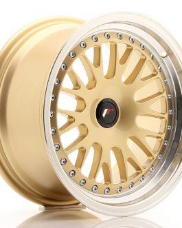 JR Wheels JR10 16×8 ET20 BLANK Gold w/Machined Lip