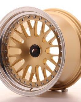 JR Wheels JR10 16×9 ET20 BLANK Gold w/Machined Lip