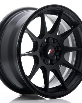 JR Wheels JR11 15×7 ET30 4×100/108 Flat Black