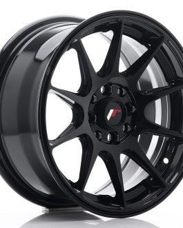 JR Wheels JR11 15×7 ET30 4×100/108  Glossy Black