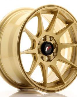 JR Wheels JR11 15×7 ET30 4×100/108 Gold