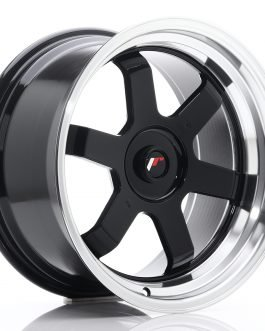 JR Wheels JR12 17×9 ET25 BLANK Gloss Black w/Machined Lip