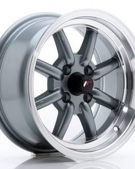 JR Wheels JR19 14×7 ET0 4×100 Gun Metal w/Machined Lip