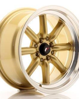 JR Wheels JR19 16×8 ET0 4×100/114 Gold w/Machined Lip