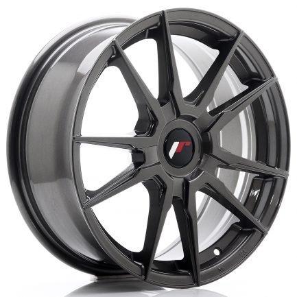 JAPAN RACING JR Wheels JR21 17x7 ET25-40 Blank Hyper Gray 7.00x17