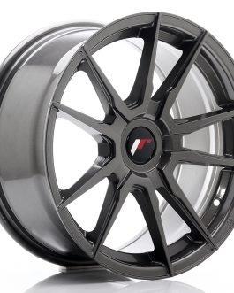 JR Wheels JR21 17×8 ET35 Blank Hyper Gray