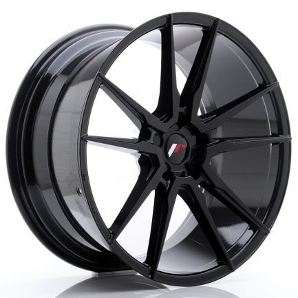 JAPAN RACING JR Wheels JR21 21x10 ET15-48 5H BLANK Glossy Black 10.00x21