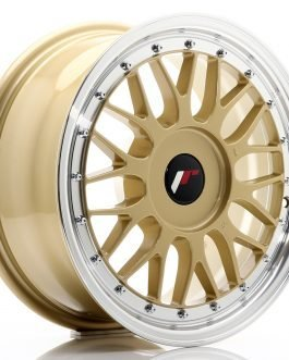 JR Wheels JR23 16×7 ET20-45 BLANK Gold w/Machined Lip