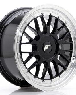 JR Wheels JR23 17×8 ET20-45 BLANK Gloss Black w/Machined Lip