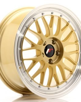 JR Wheels JR23 18×8 ET40 5×112 Gold w/Machined Lip