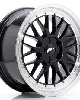 JR Wheels JR23 18×8,5 ET25-48 5H BLANK Gloss Black w/Machined Lip