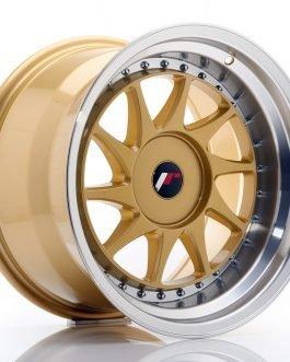 JR Wheels JR26 17×10 ET20-25 BLANK Gold w/Machined Lip