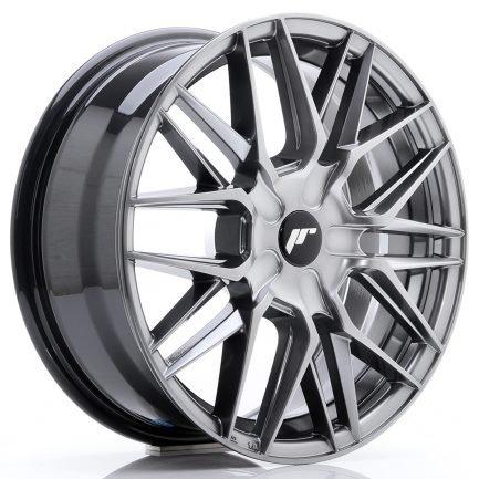 JAPAN RACING JR Wheels JR28 17x7 ET20-45 BLANK Hyper Black 7.00x17