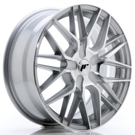 JAPAN RACING JR Wheels JR28 17x7 ET20-45 BLANK Silver Machined Face 7.00x17