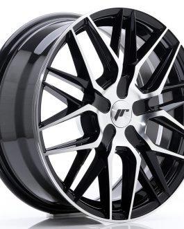 JR Wheels JR28 17×7 ET35-45 BLANK Gloss Black Machined Face