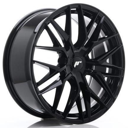 JAPAN RACING JR Wheels JR28 21x9 ET15-45 5H BLANK Gloss Black 9.00x21