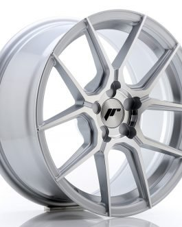 JR Wheels JR30 17×8 ET20-40 5H BLANK Silver Machined Face