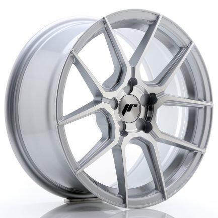 JAPAN RACING JR Wheels JR30 17x8 ET20-40 5H BLANK Silver Machined Face 8.00x17