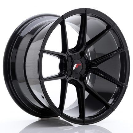 JAPAN RACING JR Wheels JR30 19x11 ET15-40 5H BLANK Glossy Black 11.00x19
