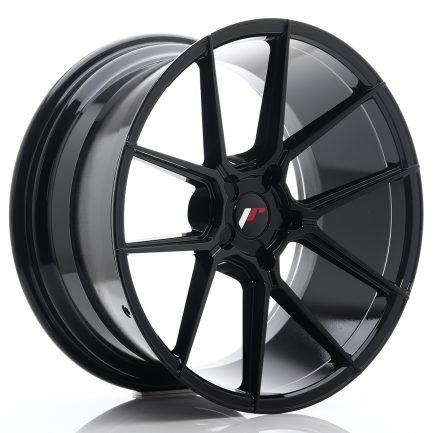 JAPAN RACING JR Wheels JR30 20x10 ET20-40 5H BLANK Glossy Black 10.00x20